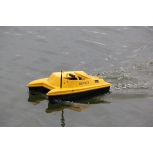 Лодка за захранка DEVICT CATAMARAN Bait Boat Lemon Yellow