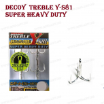Decoy куки тройки Y-S81 Super Heavy Duty